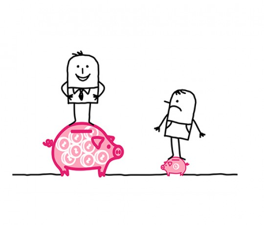 big and small piggy bank